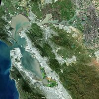San Francisco Bay Satellite Image